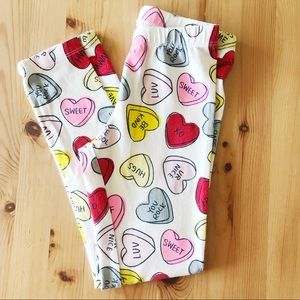 Cat & Jack Valentines Leggings 6X